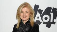 Co-founder and editor-in-chief of The Huffington Post, Arianna Huffington poses with AOL at the Maxim Party at Centennial Hall at Fair Park on February 5, 2011 in Dallas. (Michael Kovac/2011 Getty Images)