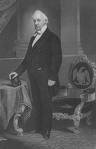 U.S. president James Buchanan.