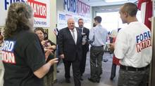 Rob Ford vows that if re-elected he will keep tax increases below the rate of inflation. (Chris Young/THE CANADIAN PRESS)