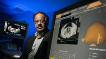 Dr. Masoom Haider, chief of medical imaging, is guiding Sunnybrook into an innovative future of diagnostics and treatment. He is pictured with the new Artemis system supporting better image-navigated prostatecancer biopsies. (Tim Fraser)