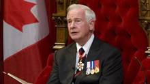 Governor General David Johnston delivers the Speech from the Throne in the Senate Chamber on Parliament Hill in Ottawa, Friday June 3, 2011. (Sean Kilpatrick/THE CANADIAN PRESS)