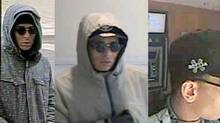Surveillance footage released by Toronto police shows the bank robber who's been dubbed the Mummy Bandit, due to his wearing makeup or a mask during most of the robberies. (TORONTO POLICE SERVICE)