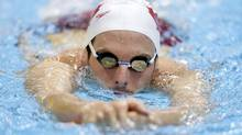Canada's Ryan Cochrane swims during training at the main pool at the Aquatics Centre before the start of the London 2012 Olympic Games on Thursday. (TIM WIMBORNE/REUTERS)