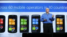 Microsoft CEO Steve Ballmer give his keynote speech at the 2011 International Consumer Electronics Show January 5, 2011 in Las Vegas, Nevada. CES, the world's largest annual consumer technology tradeshow, officially runs from January 6-9. (ROBYN BECK/AFP/Getty Images)