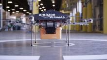Amazon announced on Sunday that the company is researching a fleet of octocopter drones to deliver products within 30 minutes of a customer placing an order – a project called Prime Air. (Amazon.com)