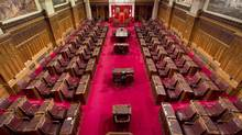 Inside the Canadian Senate chamber. (Adrian Wyld/THE CANADIAN PRESS)