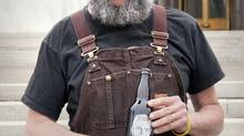 John Maier, brewmaster at Rogue Ales in Oregon. Last year Rogue released Beard Beer, made with yeast that had been cultured from Maier's bushy facial hair.