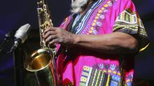 Sax giant Pharoah Sanders's most famous music seems to build towers of dissonant tenor-saxophone runs to ascend to a higher plane. (Jim Ross/The Globe and Mail)