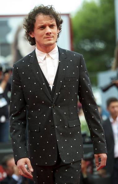 The long, not-so-hot summer just passed us by, but no reason why we can't keep making fun of celebrities, right? Let's start with a visit to the Venice Film Festival, which inspired actor Anton Yelchin to break out his best dark suit with little white dots for the premiere of his new film Cymbeline. Niente male, padrone! (Andrew Medichini/AP)