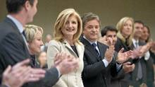 Huffington Post creator Arianna Huffington is applauded as she is introduced prior to addressing a business luncheon about the impact of social media Wednesday, Feb. 8, 2012 in Montreal. (Paul Chiasson/THE CANADIAN PRESS/Paul Chiasson/THE CANADIAN PRESS)