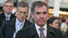 Environment Minister Jim Prentice arrives in Copenhagen on Friday, December 11, 2009.