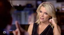 NBC host Megyn Kelly, formerly of Fox News, interviews InfoWars's Alex Jones. She has defended the interview as a journalistic attempt to 'shine a light,' but, arguably, the interview was a stunt to attract viewers to her show. (Globe and Mail Update)
