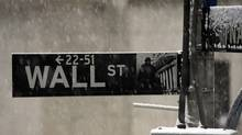 Wall St., close up. (Henny Ray Abrams)