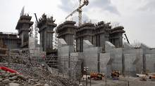 The construction site of the hydroelectric facility at Muskrat Falls, Newfoundland and Labrador is seen on July 14, 2015. (Andrew Vaughan/THE CANADIAN PRESS)