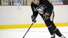 Pittsburgh Penguins hockey player Sidney Crosby skates at the Consol Energy Center in Pittsburgh (Chaz Palla/AP)