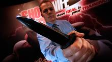 Rory Bochinski, president of Shocknife, poses in Shocknife's Winnipeg office Monday, January 11, 2010. (John Woods)