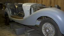A 1941 Mercedes Benz 540K Cabriolet, custom built for Hermann Goering, is shown while being restored in this 2013 photo released to Reuters on June 26, 2014. Auction website eBay has refused to list the Second World War-era Mercedes Benz once owned Adolf Hitler's close confidant. (HANDOUT/REUTERS)