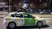 A Google maps Street View camera car travels on Spadina Avenue in Toronto, April 13, 2012. (Randall Moore/The Globe and Mail)