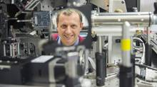 UVic engineer Colin Bradley is excited about the potential of adaptive optics technology. (UVic Photo Services)