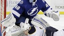 Former Tampa Bay Lightning goalie Dustin Tokarski has been acquired by Montreal (Chris O'Meara/The Associated Press)