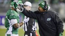 Former Saskatchewan Roughriders quarterbacks coach Khari Jones, who has joined the B.C. Lions as their new offensive co-ordinator (Ryan Remiorz/The Canadian Press)