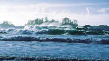 Storm watching on Long Beach in Pacific Rim National Park near Tofino. (Tourism British Columbia)