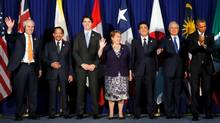 Trans-Pacific Partnership leaders are photographed before their meeting alongside the APEC Summit in Manila, Philippines, on Nov. 18, 2015. (Jonathan Ernst/Reuters)