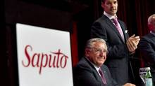 File photo of Saputo president and CEO Lino Saputo Jr. and his father Lino, chairman of the board. (Paul Chiasson/The Canadian Press)