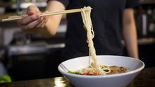 Red Tonkotsu ramen dish at the Ramen Butcher in Vancouver. (Ben Nelms/The Globe and Mail)