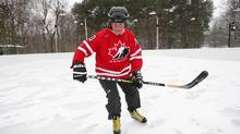 Governor-General David Johnston takes to the ice at Rideau Hall's outdoor rink in Ottawa in 2012. Mr. Johnston says we need to 'wake up to the fact that you only get one brain,' and it needs protecting. (Dave Chan/The Globe and Mail)