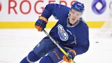 Edmonton Oilers' Connor McDavid skates during training camp in Edmonton, Alta., on Tuesday September 27, 2016. (JASON FRANSON/THE CANADIAN PRESS)