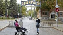 A nifty mix of sketch comedy and sitcom, Sunnyside deftly satirized the sort of neighbourhood that most urbanites in Canada recognize – the reluctantly gentrified down-at-heel 'hood, teeming with both hosers and yummy mommies with their Cadillac baby strollers. (Allen Fraser)