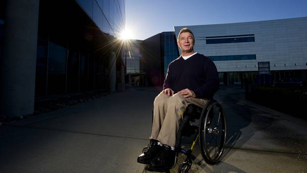 Rick Hansen at his office in Richmond, BC on January 11, 2013. (Jimmy Jeong For The Globe and Mail)