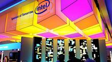 The Intel display at the 2011 International Consumer Electronics Show in Las Vegas (ROBYN BECK/AFP/Getty Images)