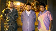From left to right: Mohammed Younis, nephew of the late General Younis, Moatasem Younis, son of General Younis, and Abdel Razag, cousin of Moatasem Younis. The family is seeking in inquiry into the death of General Younis. (Charla Jones/The Globe and Mail/Charla Jones/The Globe and Mail)