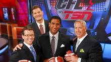 CFL on TSN panel (left to right) Dave Randorf, Chris Schultz, Jock Clime and Matt Dunigan (TSN/Bell Media)