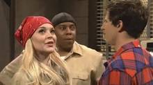 Lindsay Lohan appears on Saturday Night Live.