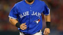 Toronto Blue Jays' Melky Cabrera runs off the field after being forced out at second during the fourth inning of their baseball game against the Los Angeles Angels, Thursday, Aug. 1, 2013, in Anaheim, Calif. According to a report by The Boston Globe, Cabrera has been placed on revocable waivers. (Mark J. Terrill/AP)