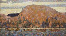 Tom Thomson's The Pointers (1916-17) is a stellar example of the use of colour as form and structure. (Hart House Collection, University of Toronto Purchased by the Hart House Art Committee with the Pri)
