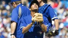 Toronto Blue Jays pitcher Juan Perez (FRED THORNHILL/REUTERS)