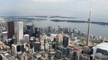Aerial views of downtown Toronto (Charla Jones)