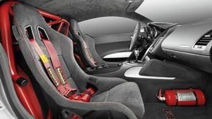 Inside the Audi R8 GT.