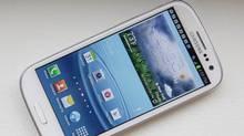 Samsung's new Galaxy S III phone. (Bebeto Matthews/AP)
