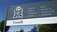 A sign for the Canadian Security Intelligence Service building is shown in Ottawa on May 14, 2013. (Sean Kilpatrick/THE CANADIAN PRESS)