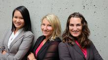 Snug Vest team includes Lucia Hsieh, Lisa Fraser (founder) and Monica McMahen (Tris Hussey)
