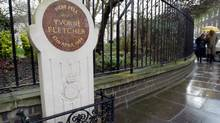 A memorial plaque to policewoman Yvonne Fletcher stands outside Libya's embassy in St. James' Square, London. Fletcher was shot dead in 1984 causing Britain to cut diplomatic ties with Tripoli. (Toby Melville/Reuters)