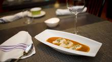Lobster Bisque and Salmon Quenelles at Ici Bistro (Ian Willms for the Globe and Mail/Ian Willms for the Globe and Mail)