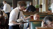 'Waiting tables is hard work, many times unappreciated.' (The Associated Press)