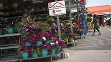 A garden centre is seen at a Home Depot in Toronto, Wednesday July 2, 2014 (Mark Blinch For The Globe and Mail)