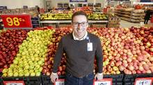 Walmart Canada CEO Lee Tappenden poses in the Ancaster Ontario Walmart, which was renovated last year becoming one of the company's new prototype stores. (Glenn Lowson)